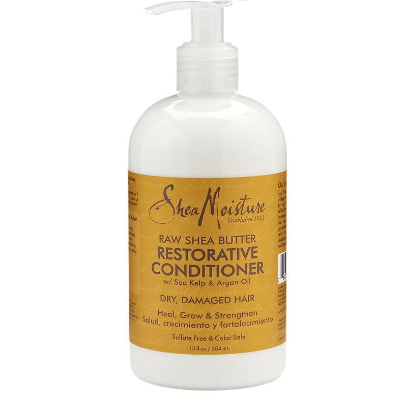 Shea Moisture RAW SHEA BUTTER Възстановяващ балсам за увредени химически третирани  коси  384 ml