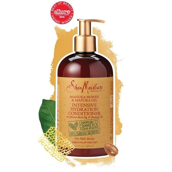 Shea Moisture Manuka Honey & Mafura Oil  Интензивен хидратиращ балсам за къдрави коси 384 мл